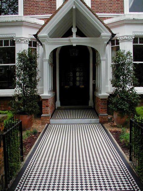 grand entrance black  white ennerdale tiles   classic border create  gorgeous