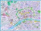 Frankfurt Map Tourist Attractions - TravelsFinders.Com