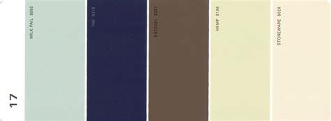 martha stewart paint 5 color palette card 17