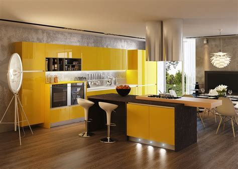 Yellow Kitchen Cabinets Ipc233   Kitchens With Contrast