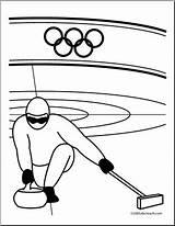 Curling Coloring Winter Olympics Olympic Clip Sport Abcteach Sports Event Clipart Ice Preview sketch template