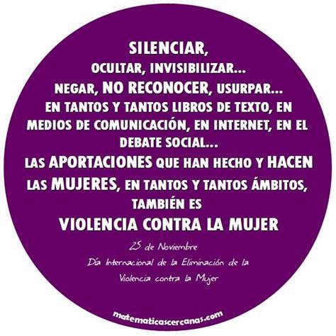 Vivimos en un mundo que parece ser cada vez más violento. 25 de Noviembre, Día Internacional de la Eliminación de la ...
