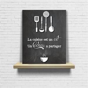 Tableau Ardoise Cuisine : tableau citation cuisine ardoise chalkboard original par artetdeco citations pinterest ~ Teatrodelosmanantiales.com Idées de Décoration
