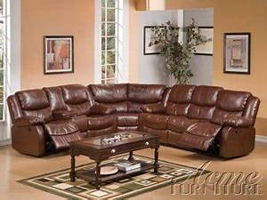 Reviews karl 50271 motion sectional sofa in brown by acme for Karl large sectional sofa