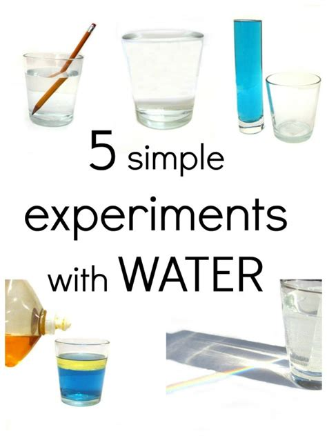 5 simple experiments with water 262 | 5 simple experiments