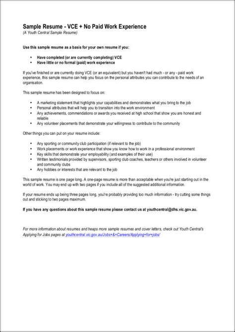 18294 tips for your thin resume presentable no experience here s the resume sle templates