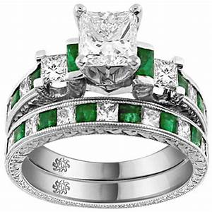 unique engagement wedding ring sets for kristina With emerald wedding ring set