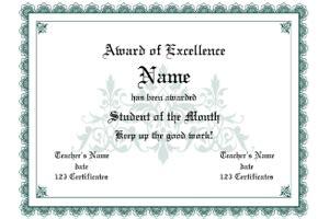 award certificate templates fine word templates