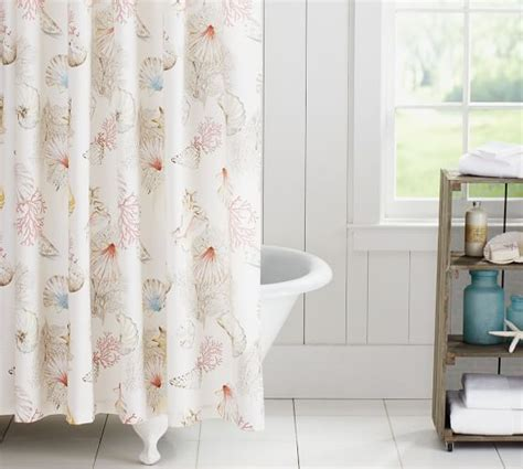 seashore shower curtain pottery barn