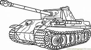 German Panther Army Tank Coloring Page - Free Tanks ...
