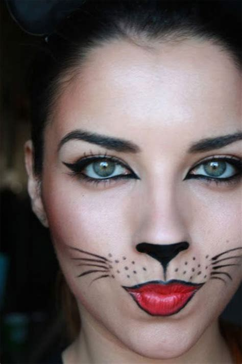cat halloween makeup looks face paint easy kitty cute costume cats woman simple scary nose costumes lion adults idea kid