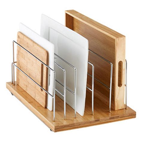 Kitchen Cabinet Organizer Companies by Bamboo 14 Quot Pull Out Kitchenware Divider The Container Store