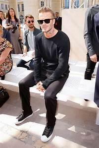David Beckham attends the Louis Vuitton Menswear Spring ...