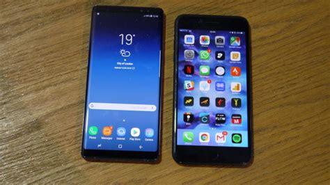 مقایسه سامسونگ گلکسی نوت 8 با آی فون 7 پلاس نبرد دستگاه