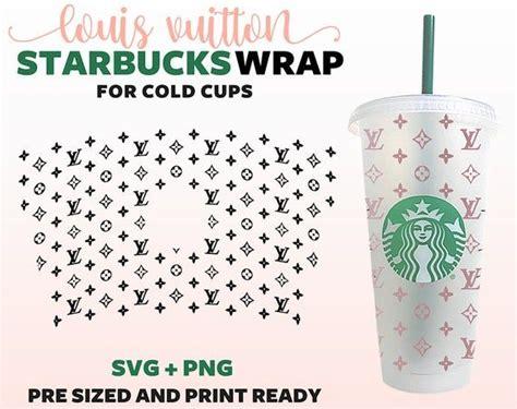 louis vuitton starbucks cup svg lv pattern starbucks cold cup svg  personalized starbucks