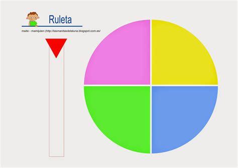Ruleta de 4 colores - Recursos didcticos
