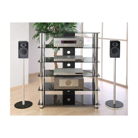 balance de cuisine design meuble hifi design en verre noir 113 cm