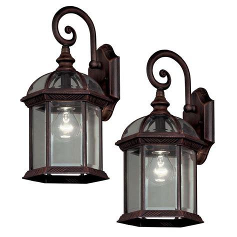 column light fixtures hton bay pack 1 light weathered bronze outdoor