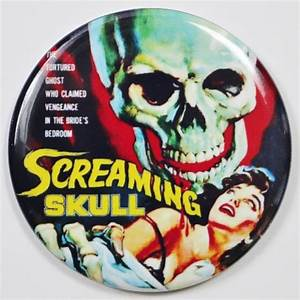 Screaming Skull Movie Poster FRIDGE MAGNET Monster