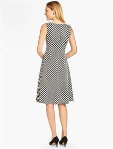 talbots dot jacquard fit and flare dress dresses With talbots dresses for weddings