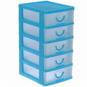Boite Tiroir Plastique : bloc avec boites de rangement 5 tiroirs ~ Teatrodelosmanantiales.com Idées de Décoration