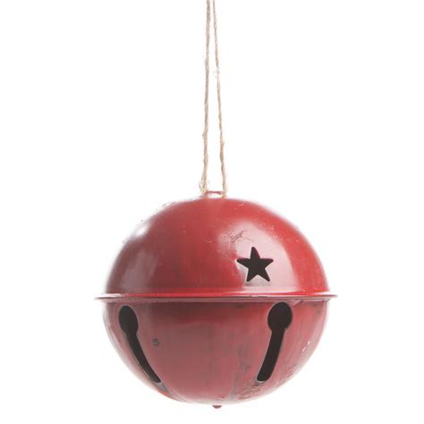 rustic red sleigh bell ornament bells basic craft