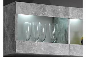 Beton Pas Cher : meuble t l mural design blanc b ton pas cher novomeuble ~ Edinachiropracticcenter.com Idées de Décoration