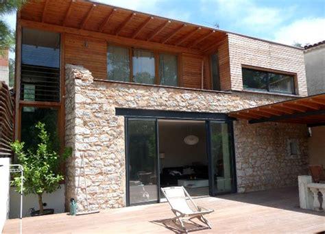 extension de maison 224 ossature bois extension sur jardin avec toiture terrasse 5