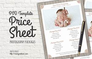 Photography Packages Price List PSD ~ Templates on Creative Market