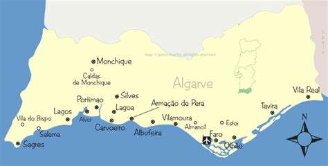 algarve cities  attractions map wandering portugal