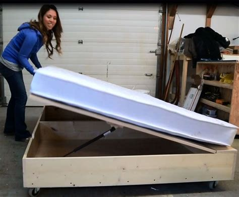 lift storage bed trundle converts  sofa  tiny house