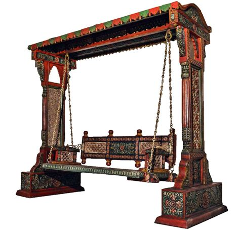jaisalmer jharokha design wooden carved royal swing set