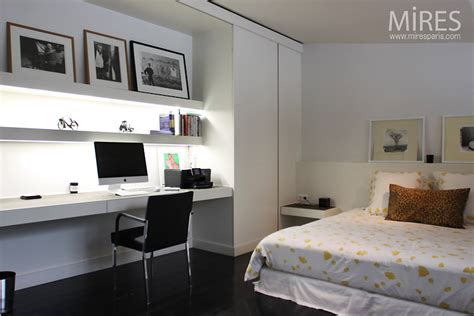 deco chambre papier peint chambre bureau en noir et blanc c0750 mires