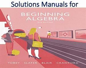 Solutions Manual For Beginning Algebra 9th Edition  U0432 2020  U0433