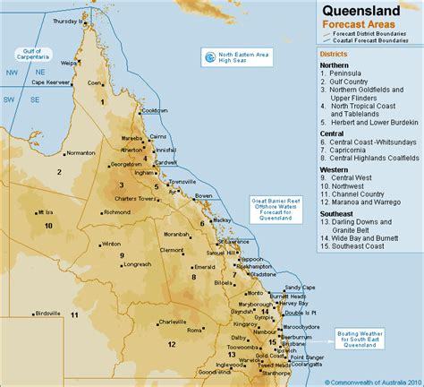 queensland forecast areas map