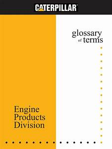 Glossary Of Terms Engine Products Division