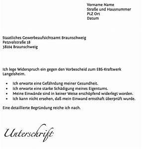 Widerspruch Rechnung Frist : widerspruch zum vorbescheid des gewerbeaufsichtsamtes ~ Themetempest.com Abrechnung