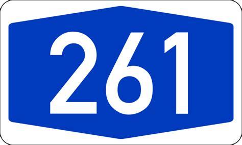 Filebundesautobahn 261 Numbersvg  Wikimedia Commons