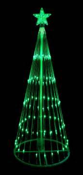 9 green led light show cone christmas tree lighted yard art decoration ebay