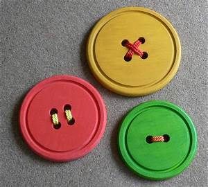 Fun giant button wall art thestagedhome