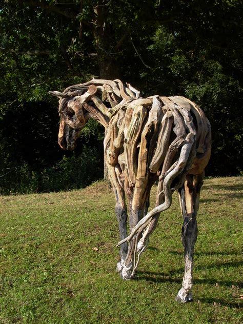 heather jansch sculptor bronze driftwood horse sculpture