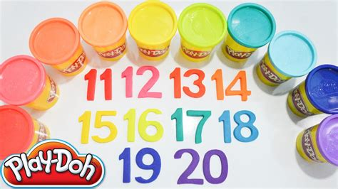 colorful play doh numbers learn counting real numbers