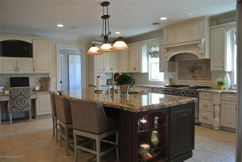 50 Gorgeous Kitchen Designs With Islands Gray Linen Curtains Glass Finial Curtain Rod Button Tab Sheer Embroidered Hanging From The Ceiling Waterfall Valances Matching And Rugs 13