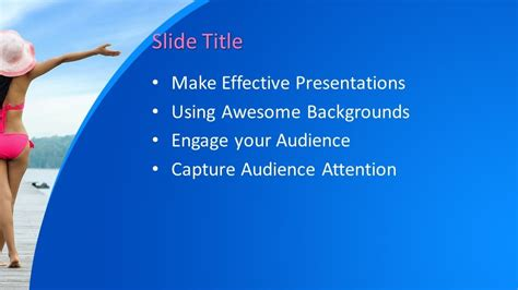girl powerpoint template  powerpoint templates