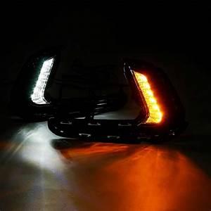 1 Pair Led Car Daytime Running Light Drl Front Bumper Fog
