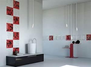 le carrelage mural de salle de bain With carrelage rouge salle de bain