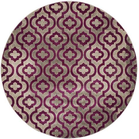 Safavieh Porcello by Safavieh Porcello Light Gray Purple 7 Ft X 7 Ft