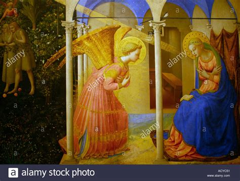 Kunstgalerie In Madrid E by Annunciation Fra Angelico Stockfotos Annunciation Fra