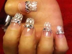 Top most attractive rhinestone nail art designs