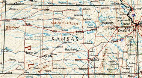 Kansas Maps And State Information